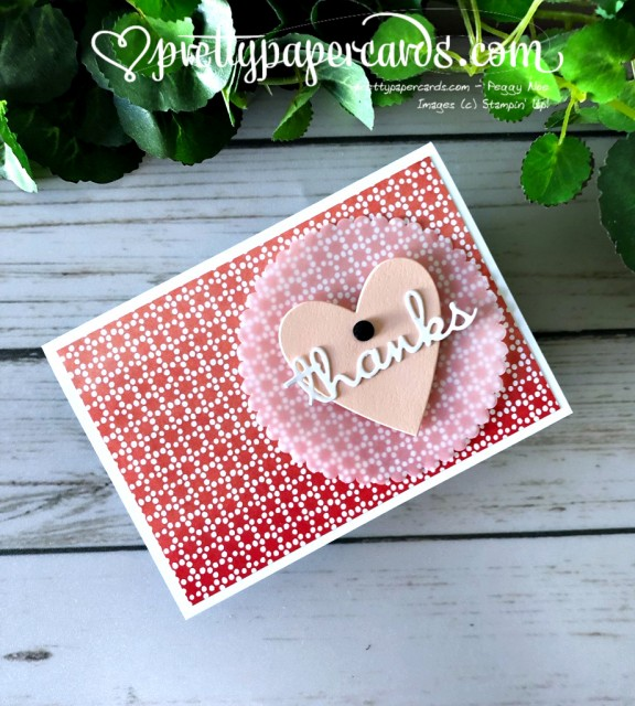 Stampin' Up! Heart of Thanks - Pretty Paper Cards - stampinup