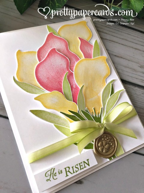 Stampin' Up! Lasting Lily Card - prettypapercards - stampinup