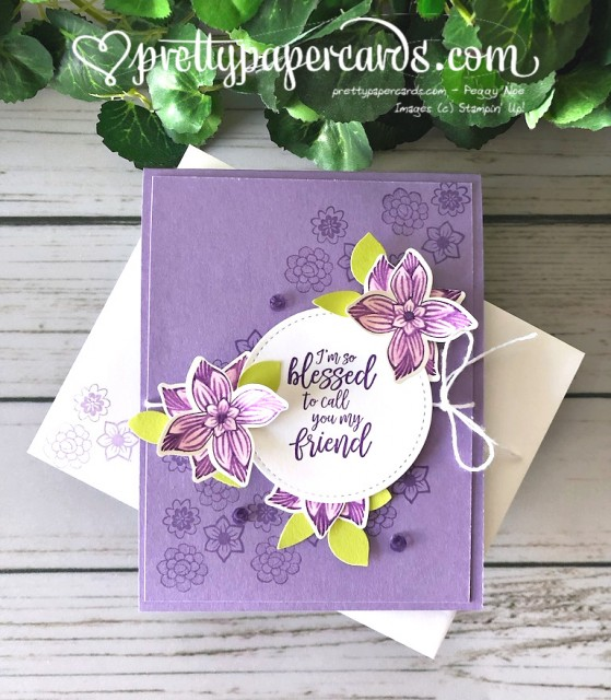 Stampin' Up! Pop of Petals Card - Peggy Noe - stampinup