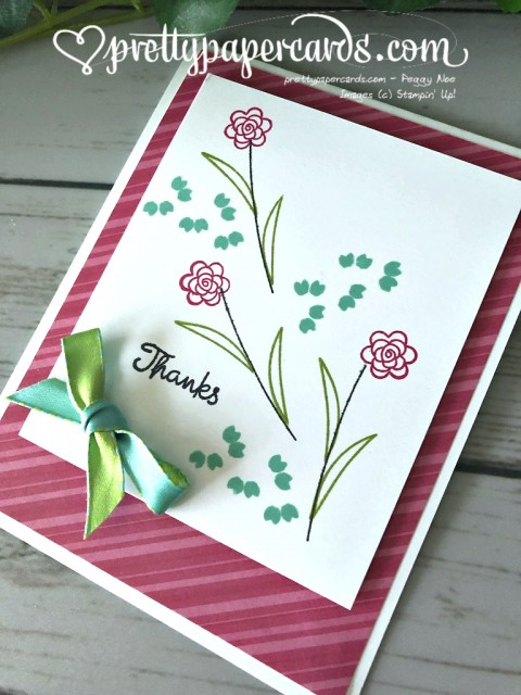 Stampin' Up! Varied Vases Thanks - Pretty Paper Cards - stampinup