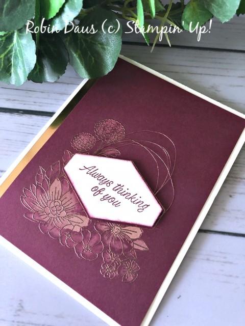 Stampin' Up! Accented Blooms Merlot Card - Robin Daus - stampinup