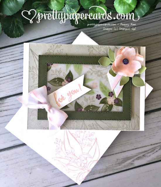 Stampin' Up! Floral Romance Card - Prettypapercards - stampinup