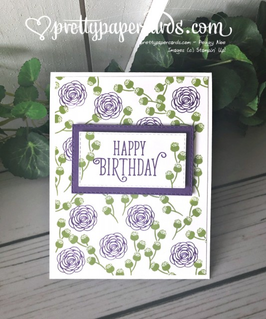 Stampin' Up! Happy Birthday Gorgeous Card - Peggy Noe - stampinup