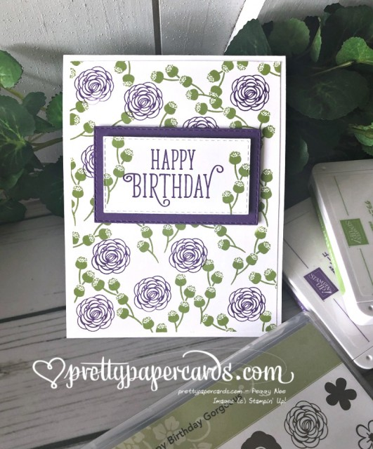 Stampin' Up! Happy Birthday Gorgeous - Peggy Noe - stampinup