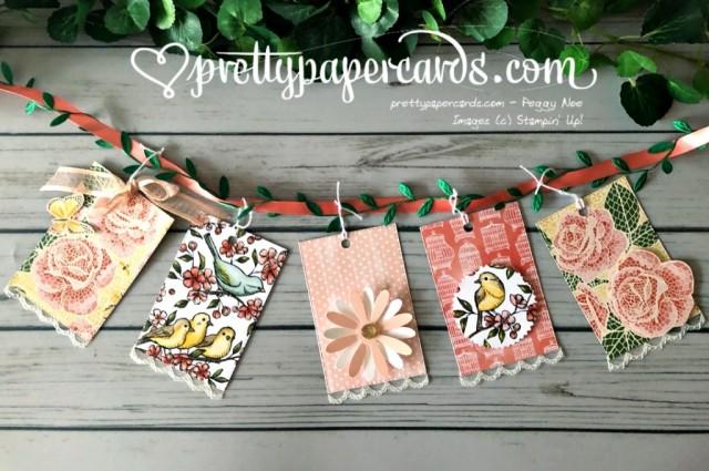 Stampin' Up! Mosaic Mood Bird Banner - Peggy Noe - stampinup