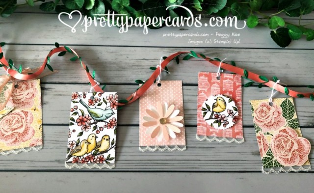 Stampin' Up! Mosaic Mood Bird Banner - prettypapercards - stampinup