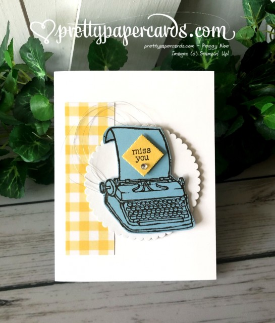 Stampin' Up! P.S. You're the Best Card - prettypapercards - stampinup