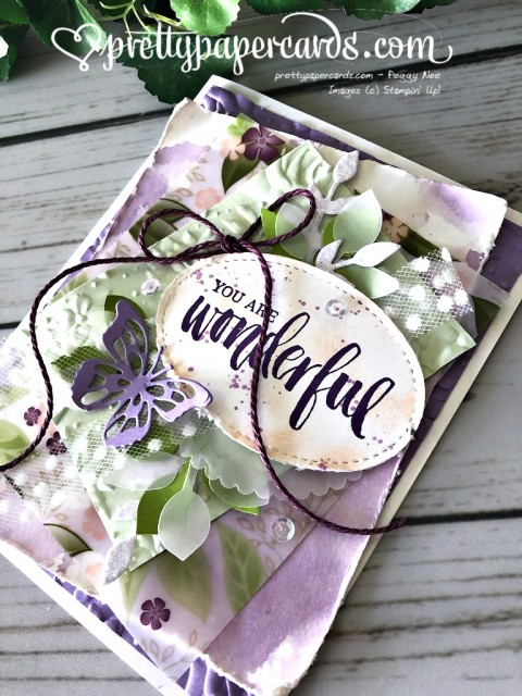 Stampin' Up! Rooted in Nature Card - Peggy Noe - stampinup