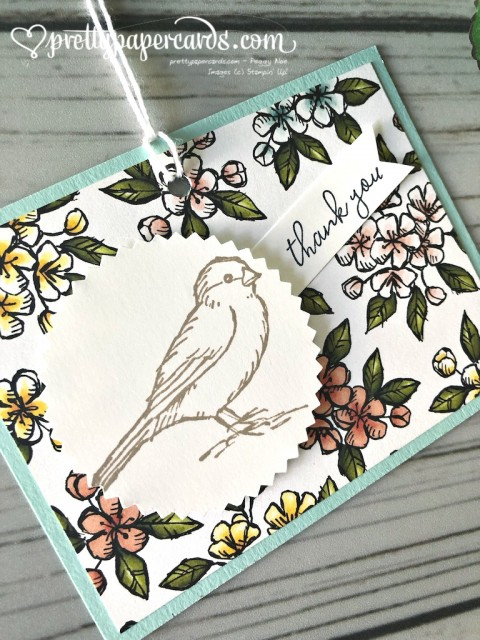Stampin' Up! Bird Ballad Thank You - prettypapercards - stampinup