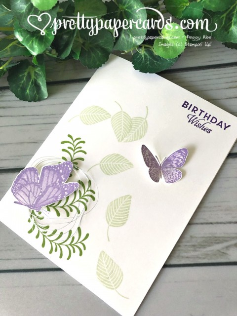 Stampin' Up! Butterfly Wishes - prettypapercards - stampinup