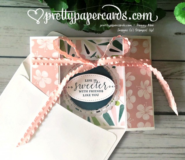 Stampin' Up! Double Gatefold Card - Peggy Noe - stampinup