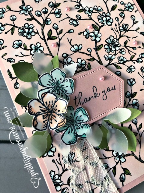 Stampin' Up! Free as a Bird thank you - Peggy Noe - stampinup