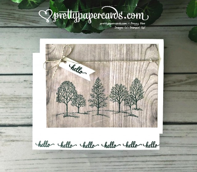 Stampin' Up! Lovely as a Tree Card - Pretty Paper Cards - stampinup