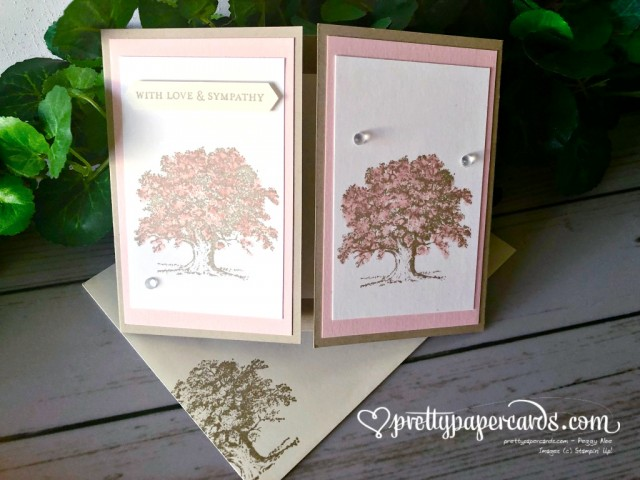 Stampin' Up! Lovely as a Tree Sympathy Card - Peggy Noe - stampinup