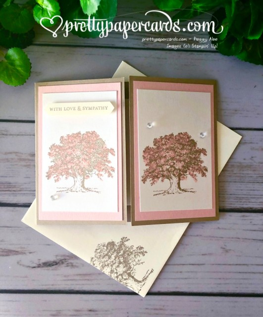 Stampin' Up! Lovely as a Tree Sympathy Card - prettypapercards - stampinup