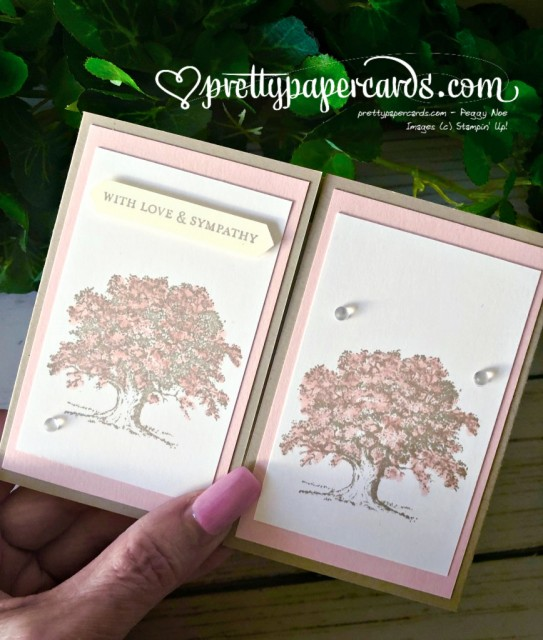 Stampin' Up! Lovely as a Tree Sympathy - Peggy Noe - stampinup
