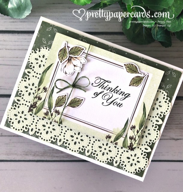 Stampin' Up! Magnolia Thank You Card - Peggy Noe - stampinup