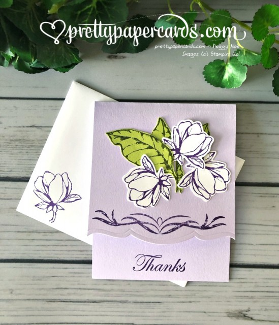 Stampin' Up! Magnolia Thanks Card - Peggy Noe - stampinup