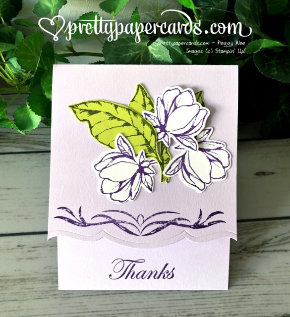 Stampin' Up! Magnolia Thanks - prettypapercards - stampinup