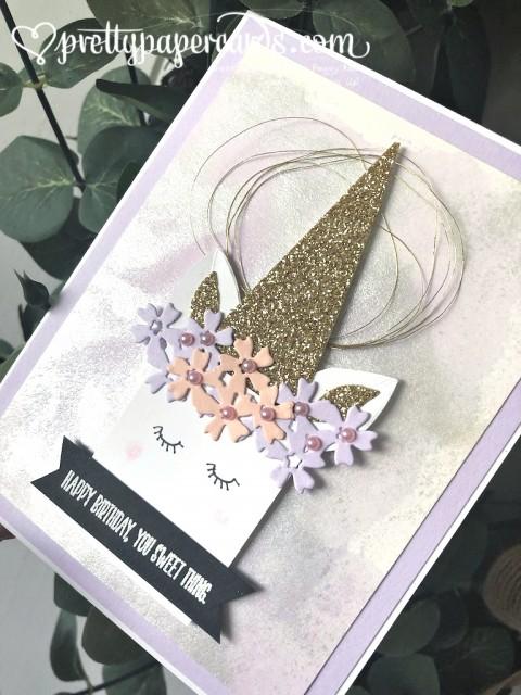 Stampin' Up! Unicorn Birthday Card - Peggy Noe - stampinup