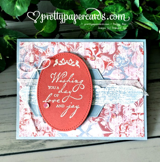 Stampin' Up! Woven Threads card - Peggy Noe - stampinup