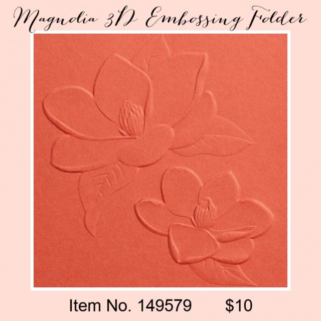 Magnolia 3D Embossing Folder 149579G