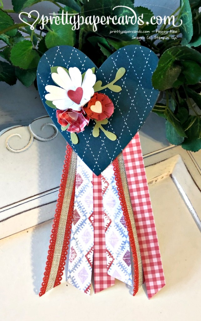 Stampin' Up! 4th of July Heart Banner - Peggy Noe - stampinup