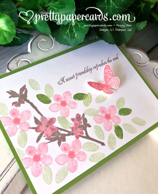 Stampin' Up! Butterfly Wishes Friend Butterfly - Peggy Noe - stampinup