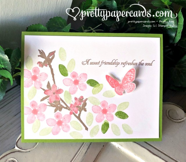 Stampin' Up! Butterfly Wishes Friend Card - prettypapercards - stampinup