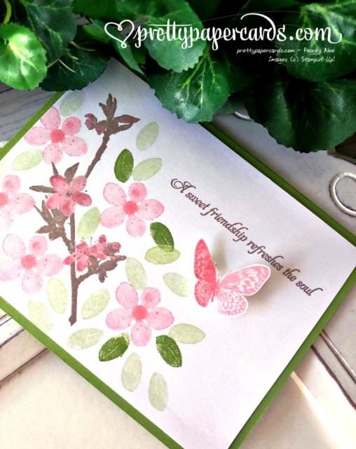 Stampin' Up! Butterfly Wishes friend card - Peggy Noe - stampinup