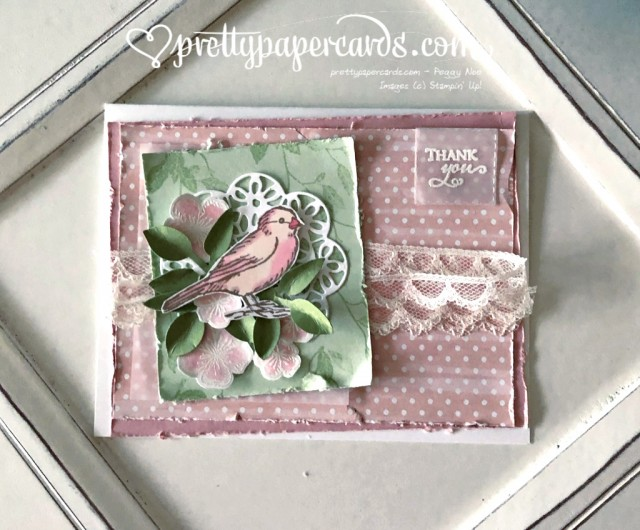 Stampin' Up! Free as a Bird Thank You - prettypapercards - stampinup