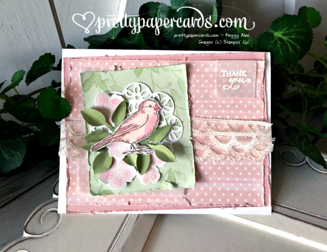Stampin' Up! Free as a Bird Thanks - Peggy Noe - stampinup