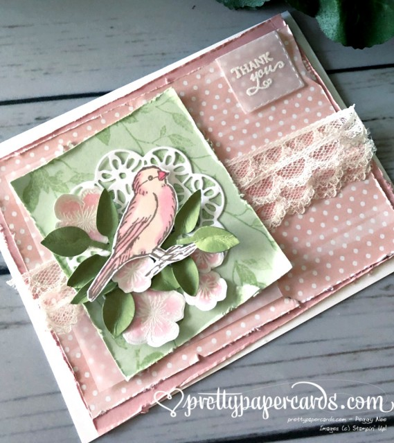 Stampin' Up! Free as a Bird Thanks - prettypapercards - stampinup