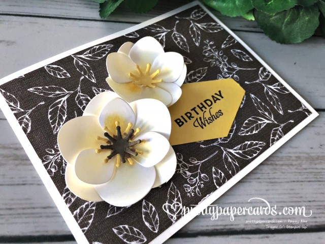 Stampin' Up! Magnolia Birthday Wishes Card - prettypapercards - stampinup