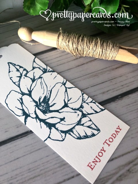 Stampin' Up! Magnolia Gift Tag - Peggy Noe - stampinup
