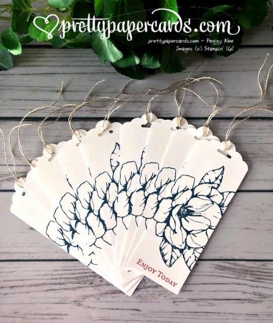 Stampin' Up! Magnolia Gift Tag - prettypapercards - stampinup