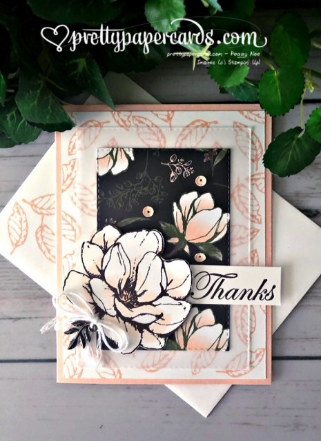 Stampin' Up! Magnolia Lane Thank You - prettypapercards - stampiup