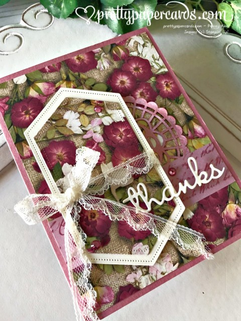 Stampin' Up! Pressed Petals Thanks - prettypapercards - stampinup