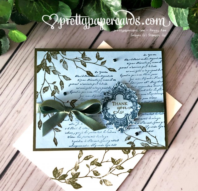 Stampin' Up! Very Versailles Thank You - Peggy Noe - stampinup
