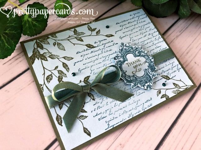 Stampin' Up! Very Versailles Thank You - prettypapercards - stampinup