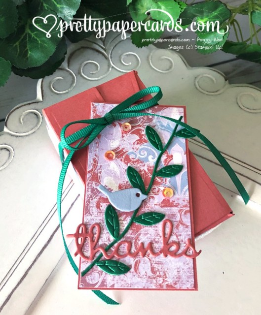 Stampin' Up! Woven Threads Bird Box - prettypapercards - stampinup