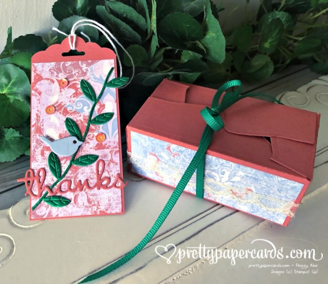 Stampin' Up! Woven Threads Box - Peggy Noe - stampinup