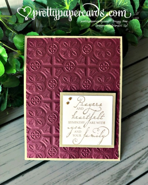 Stampin' Up! Woven Threads prayer - prettypapercards - stampinup