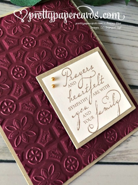 Stampin' Up! Woven Threads sympathy - prettypapercards - stampinup