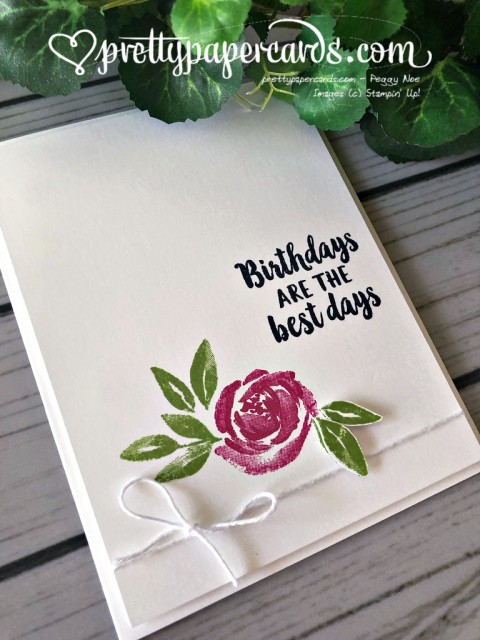 Stampin' Up! Beautiful Friendship Birthday - prettypapercards - stampinup