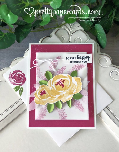 Stampin' Up! Beautiful Friendship Flower - Peggy Noe - stampinup