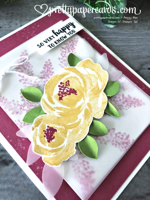 Stampin' Up! Beautiful Friendship Happy - prettypapercards - stampinup