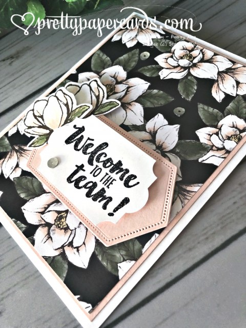 Stampin' Up! Daisy Lane Welcome Card - prettypapercards - stampinup