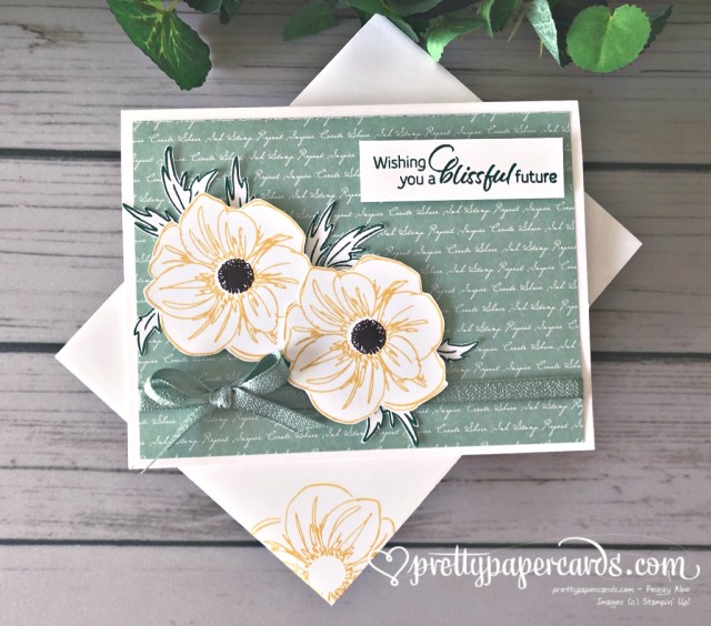 Stampin' Up! Floral Essence Mint Card - Peggy Noe - stampinup