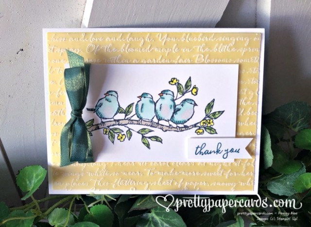 Stampin' Up! Free as a Bird Script - Peggy Noe - stampinup